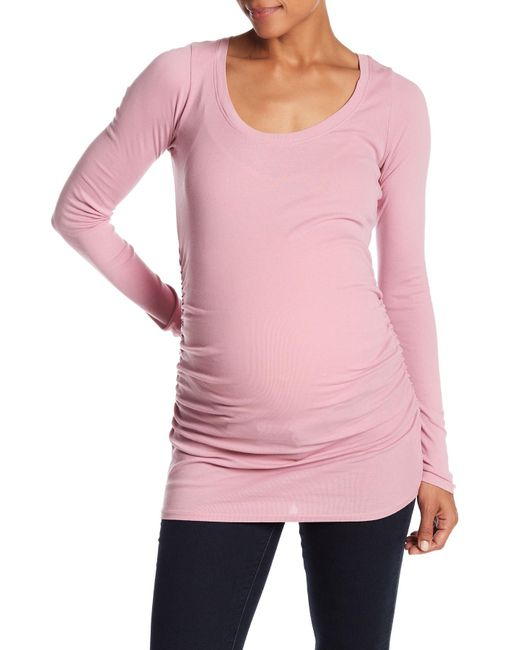 Lamade - Pink Long Sleeve Basic Tee (maternity) - Lyst