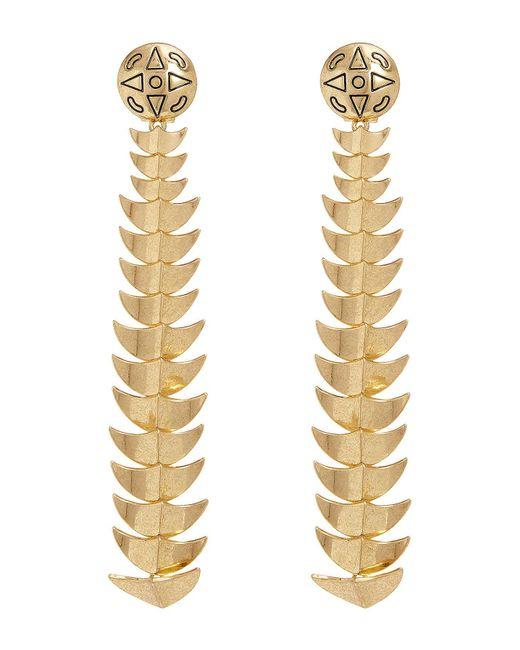 House of Harlow 1960 | Metallic Dorado Long Drop Earrings | Lyst