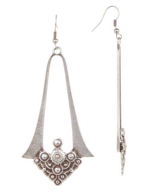 TMRW STUDIO - White Cutout Engraved Earrings - Lyst