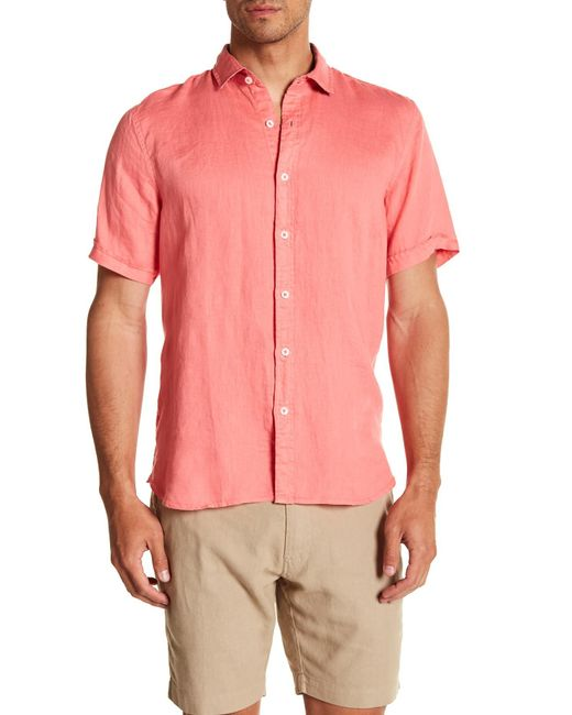 Tocco Toscano - Pink Short Sleeve Solid Woven Shirt for Men - Lyst