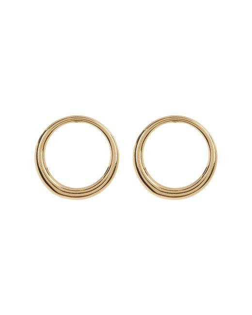 Trina Turk | Metallic Open Front Facing Hoop Earrings | Lyst