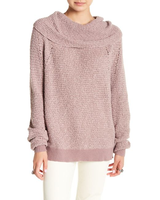 Lyst Free People By Your Side Sweater In Purple
