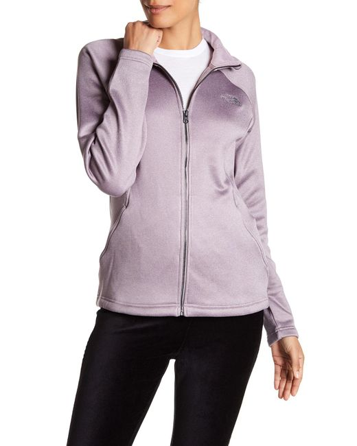 The North Face   Gray Quail Grey Agave Zip Jacket   Lyst