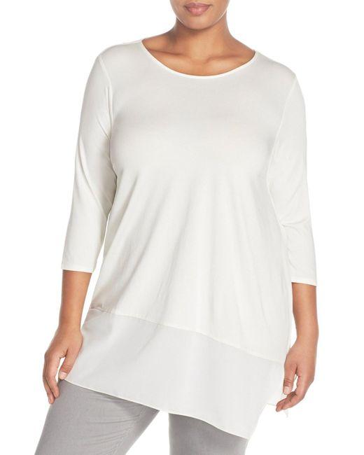 Vince Camuto | White Asymmetrical Hem Shirt (plus Size) | Lyst