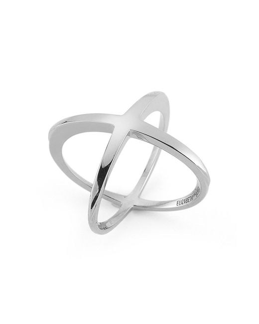 Elizabeth and James - Metallic Windrose Crisscross Ring - Size 6 - Lyst