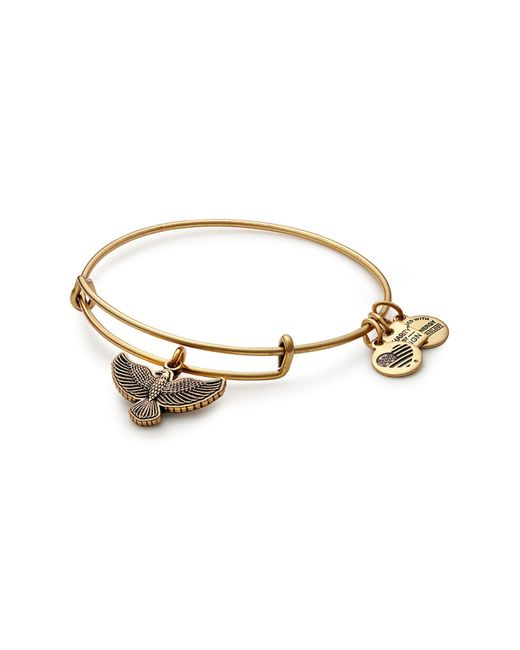 ALEX AND ANI - Metallic Spirit Of The Eagle Charm Expandable Wire Bracelet - Lyst