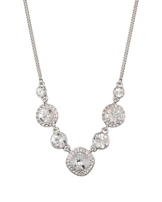 Givenchy - Metallic Crystal Chain Frontal Necklace - Lyst