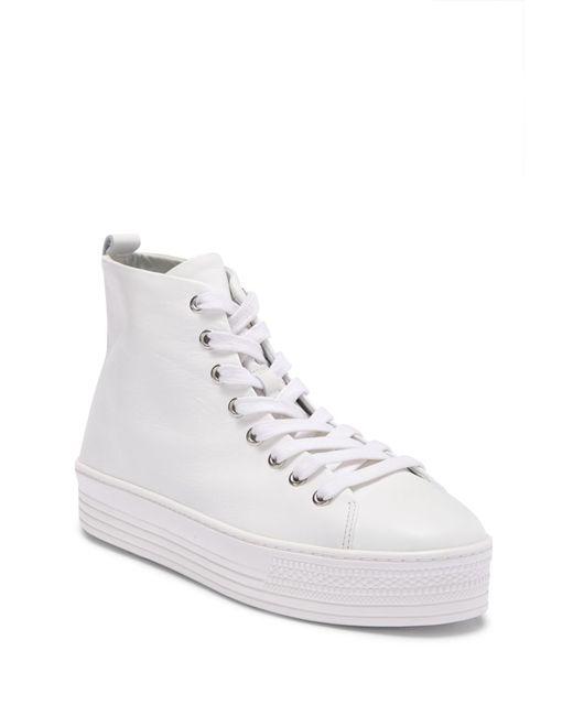 Schutz - White Jolon Platform Hightop Sneaker - Lyst