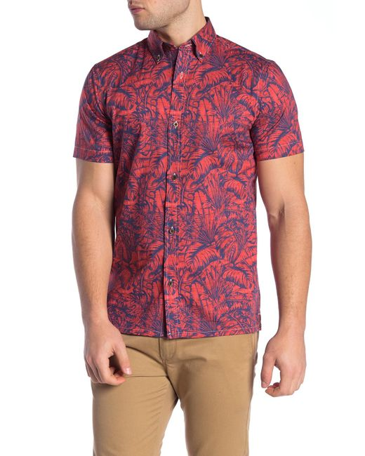 b934b28c0 Wallin & Bros. - Multicolor Hawaiian Short Sleeve Performance Fit Shirt for  Men ...
