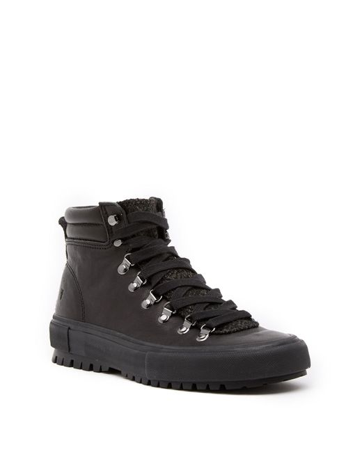 Frye - Black Ryan Leather Lug Hiker Boot for Men - Lyst