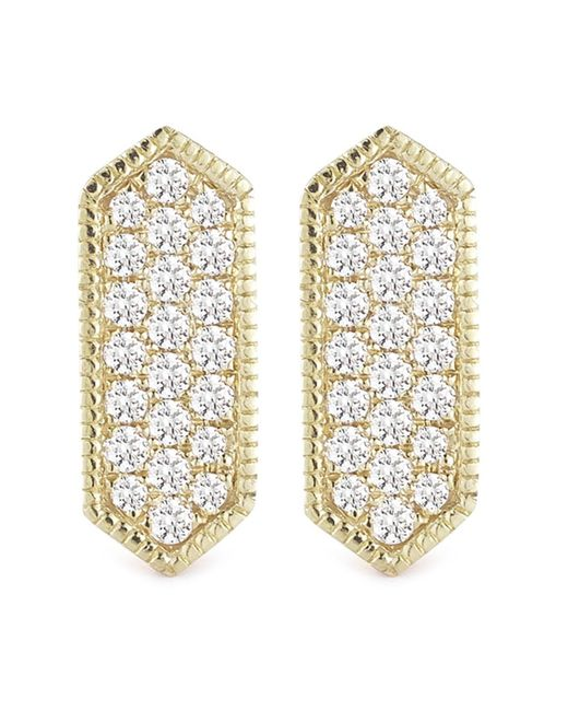 Dana Rebecca - Multicolor 14k Yellow Gold Diamond Accented Cynthia Rose Bar Earrings - 0.21 Ctw - Lyst