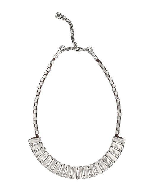 Uno De 50 - Metallic Bricomaniatic Stacked Metal Clad Necklace - Lyst