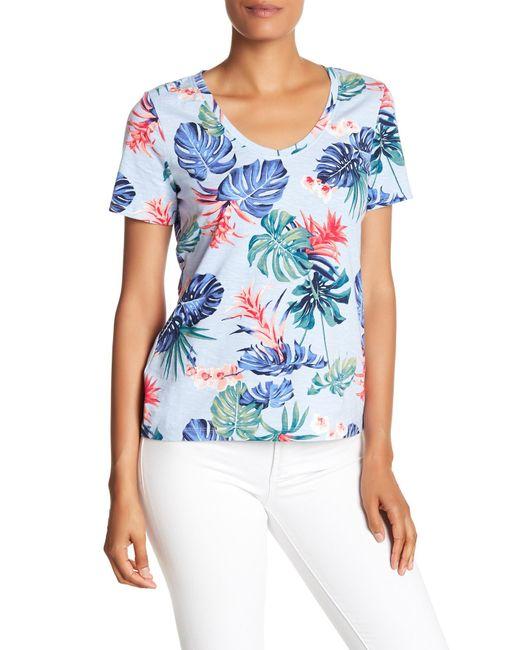 Tommy Bahama - Blue Bogart Blooms Short Sleeve Top - Lyst