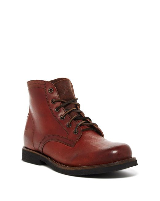 Frye | Brown Roland Lace-up Boot for Men | Lyst