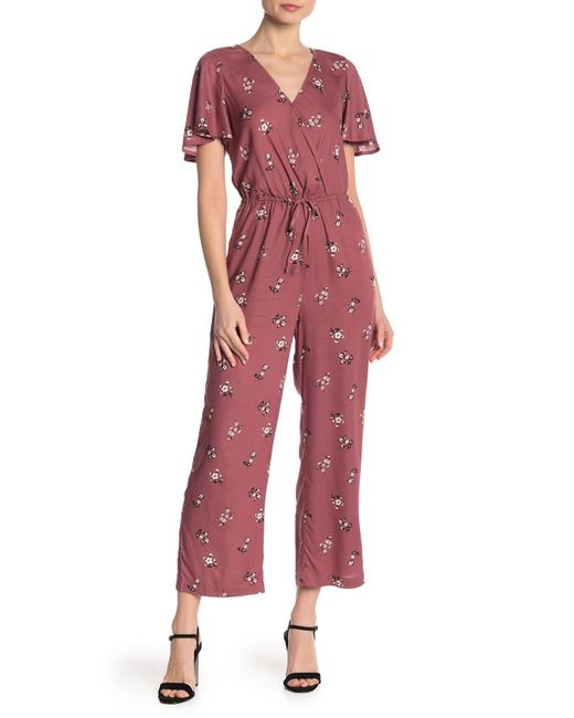 22e2d16b948c Mimi Chica - Red Short Sleeve Jumpsuit - Lyst ...