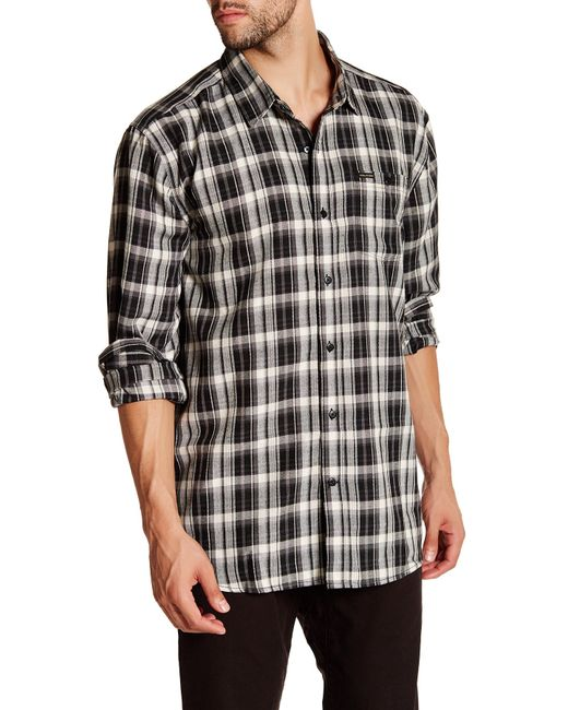 Volcom | Black Bartlett Long Sleeve Shirt for Men | Lyst