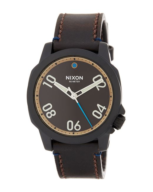 Nixon | Black Men's Ranger 40 Leather Watch for Men | Lyst