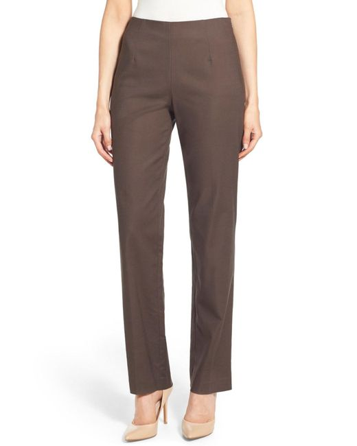 NIC+ZOE | Brown Perfect Pants | Lyst