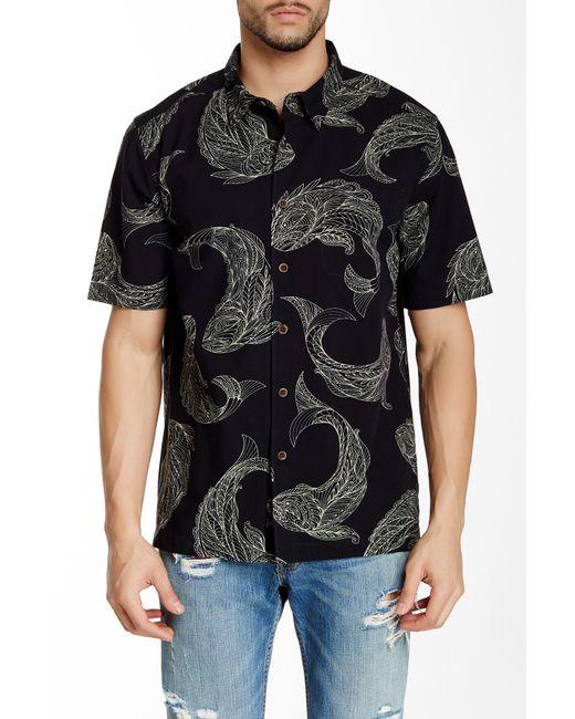 Quiksilver | Black Waterman Juno Beach Printed Short-sleeve Shirt for Men | Lyst