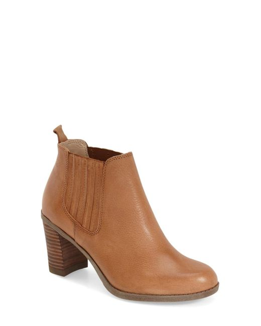 Dr. Scholls | Brown Original Collection London Block Heel Bootie | Lyst