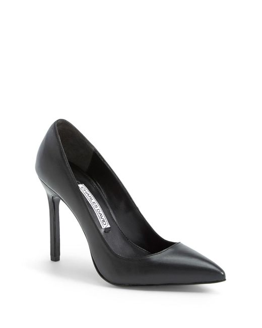 Charles David | Black 'caterina' Pointy Toe Pump | Lyst