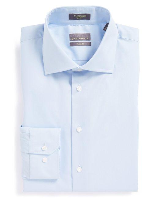 Calibrate | Blue Trim Fit Dress Shirt for Men | Lyst