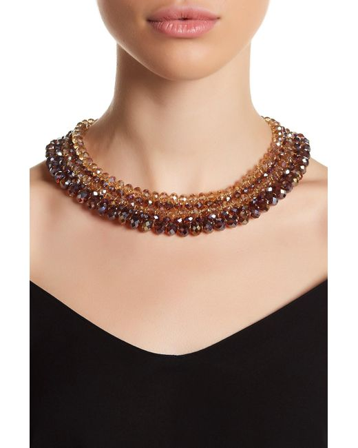 Carolee | Multicolor Woven Beaded Collar Necklace | Lyst