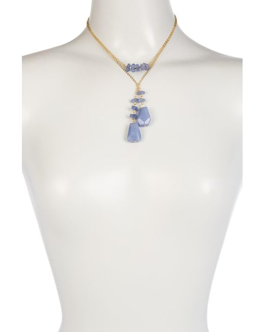Carolee | Blue Layered Cluster Stone Station Necklace | Lyst