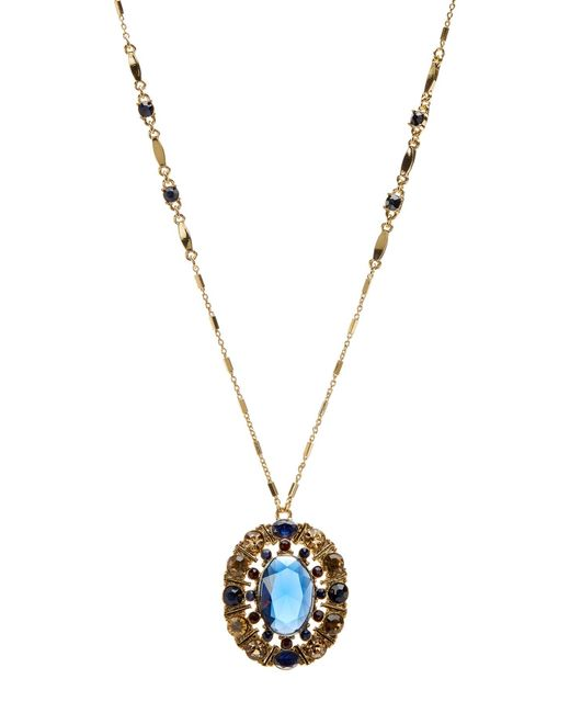 Carolee | Metallic Rhinestone Pendant Long Necklace | Lyst