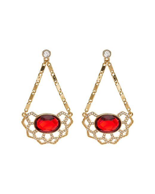 Carolee | Metallic Openwork Chandelier Drop Earrings | Lyst