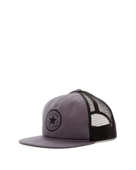 Converse   Gray Core Canvas Trucker Hat for Men   Lyst