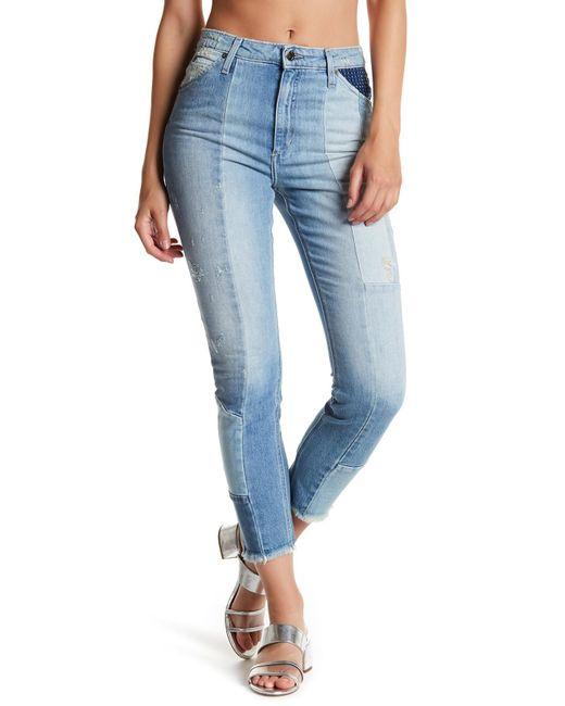Joe's Jeans   Blue Bella High Rise Straight   Lyst