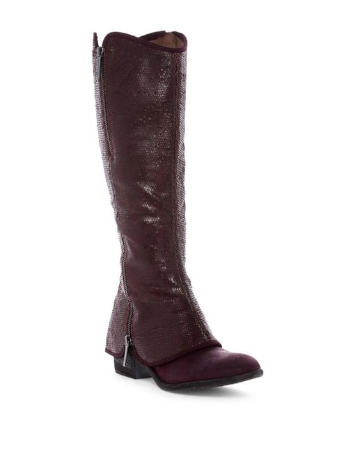 Donald J Pliner | Brown Devi5 Snake-embossed Cuff Boot | Lyst