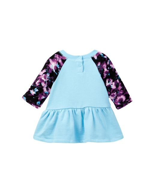 Splendid Abstract Floral Raglan Dress baby Girls in Blue