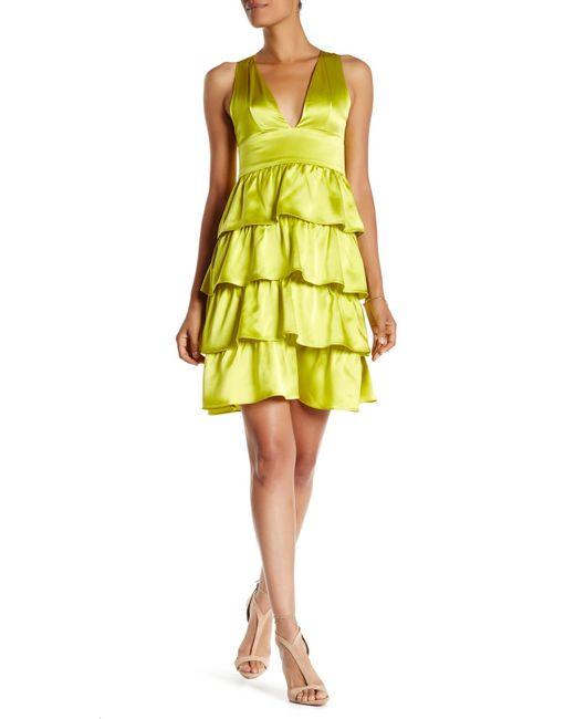 Cynthia Rowley | Yellow Silk Ruffle Dress | Lyst