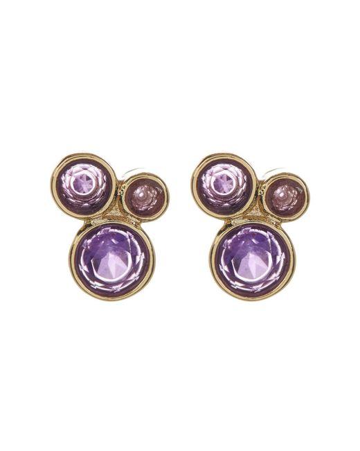 Melinda Maria   Metallic Jasmine Amethyst Cluster Stud Earrings   Lyst