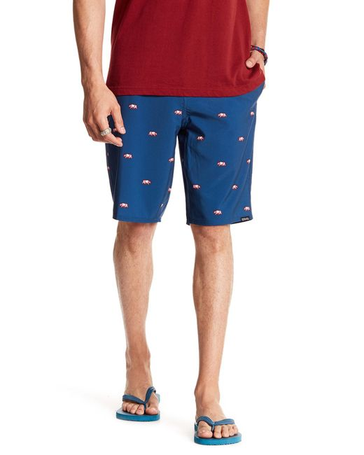 Ezekiel | Blue Grizzy Versa Board Short for Men | Lyst