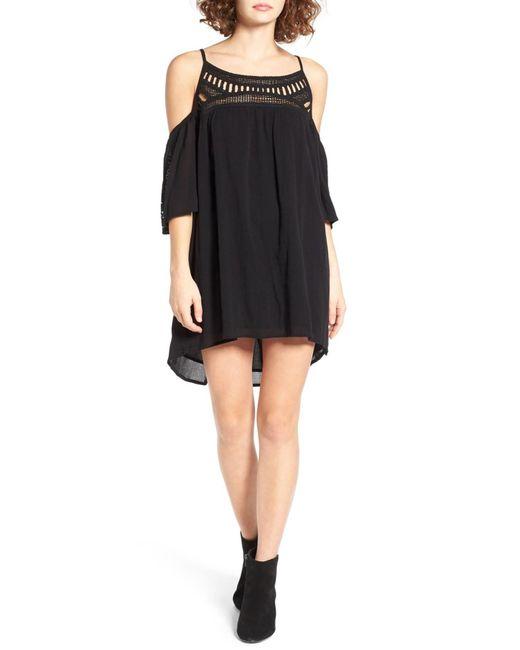 Rip Curl   Black Amorosa Cold Shoulder Dress   Lyst