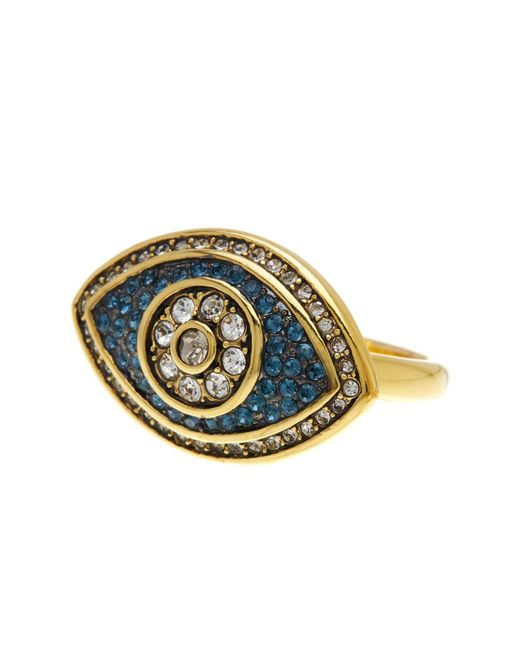 Ariella Collection | Metallic Evil Eye Ring | Lyst
