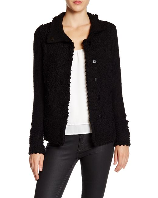 NIC+ZOE | Black 4-way Linen-blend Knit Cardigan | Lyst