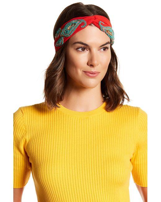 Cara   Multicolor Beaded Knotted Headband   Lyst