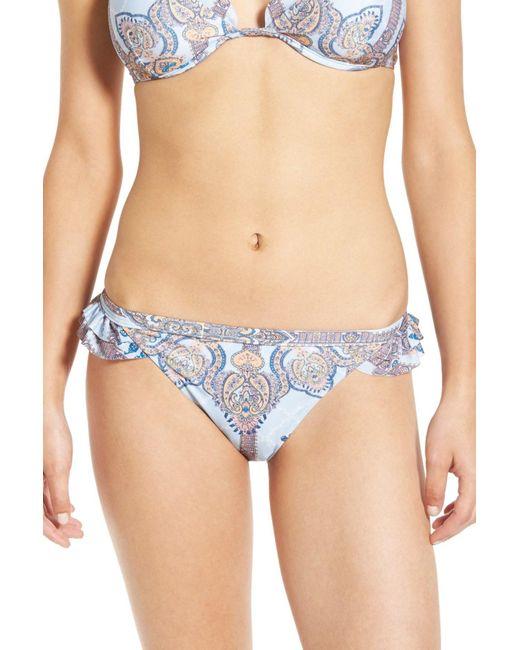 Somedays Lovin | Blue 'lotus' Scallop Trim Bikini Bottoms | Lyst