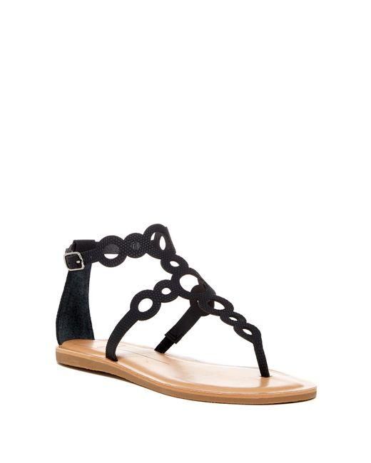 Dolce Vita | Black Jolee Cutout T-strap Sandal | Lyst
