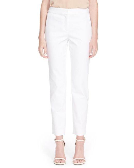 St. John | White Emma Micro Ottoman Crop Pant | Lyst