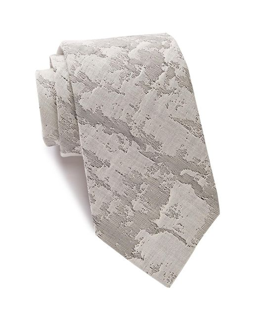 John Varvatos | Gray Marble Abstract Tie for Men | Lyst
