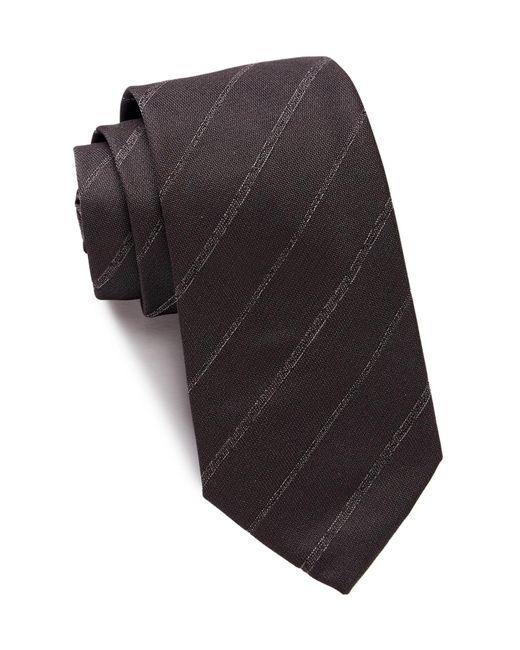 John Varvatos   Black Stitch Stripe Tie for Men   Lyst