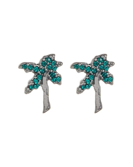 Marc Jacobs | Multicolor Strass Palm Tree Stud Earrings | Lyst