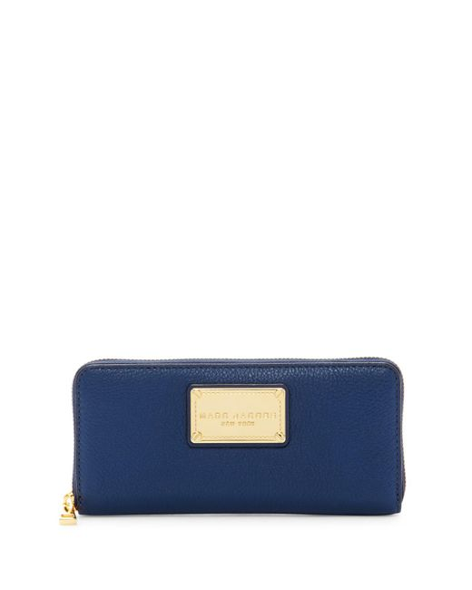 Marc Jacobs | Blue Classic Standard Leather Continental Wallet | Lyst