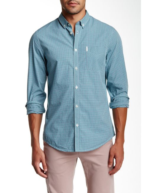 Ben Sherman | Blue Striped Shirt for Men | Lyst