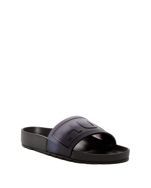 Hunter | Black Slide Sandal for Men | Lyst